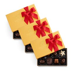 Assorted Chocolate Gold Gift Box, Set of 3, 8 pc. each