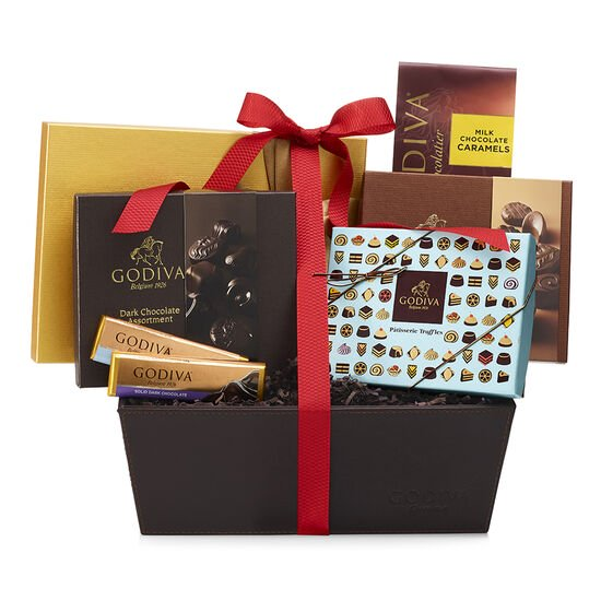 Chocolate Lover's Gift Basket, Red Ribbon image number null