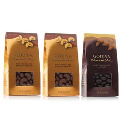 Milk and Dark Chocolate Covered Nuts, Set Of 3, 8.5 oz. each