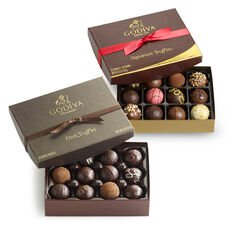 Signature Truffles, 12 pc. and Dark Chocolate Truffles, 12 pc.