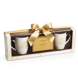 Hot Cocoa Mug Gift Set, Gold Ribbon