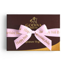 Signature Truffles Gift Box, Personalized Pink Ribbon, 24 pc.