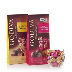 Wrapped Milk Chocolate Truffles & Milk Chocolate Caramels, Large Bags, Set of 2, 19 pc. each