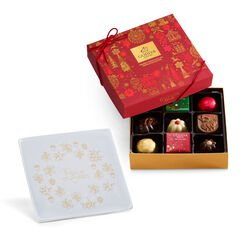 Peace on Earth Tray with Assorted Chocolate Holiday Gift Box, 9 pc.