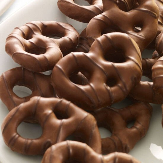Milk Chocolate Covered Pretzels Canister, 1 lb. image number null