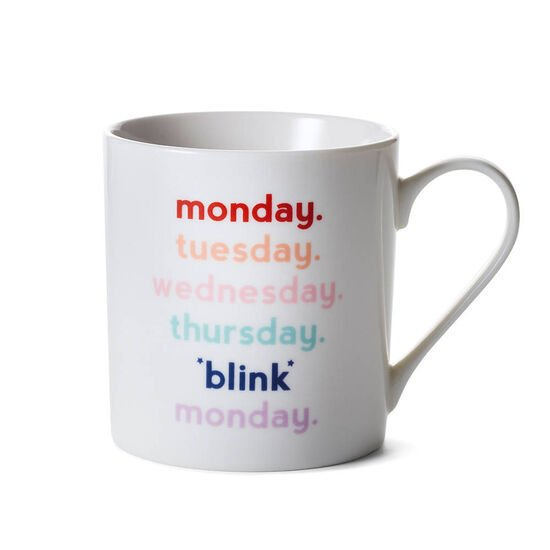 Blink Mug with Milk Chocolate Hot Cocoa Canister, 10 Servings image number null