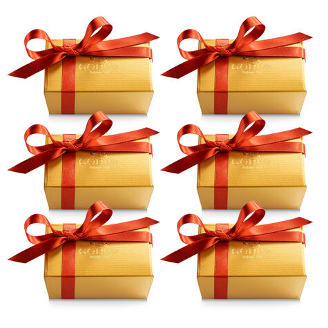 Assorted Chocolate Gold Favor, Fall Ribbon, Set of 6, 2 pc. each