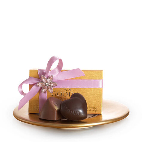 Gold Favor with Ribbon and Flower