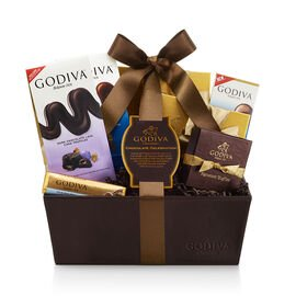 Chocolate Celebration Gift Basket, Classic Ribbon