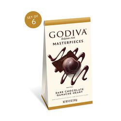 Godiva Masterpieces, Dark Chocolate Ganache Hearts, Set of 6, 17 pc. each
