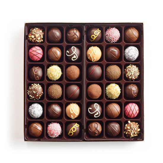 Red Platter with Signature Truffle Gift Box, 36 pc. image number null