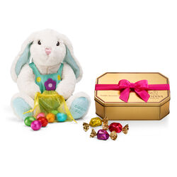 2020 Limited Edition Plush Bunny and G Cube Truffles Gold Tin