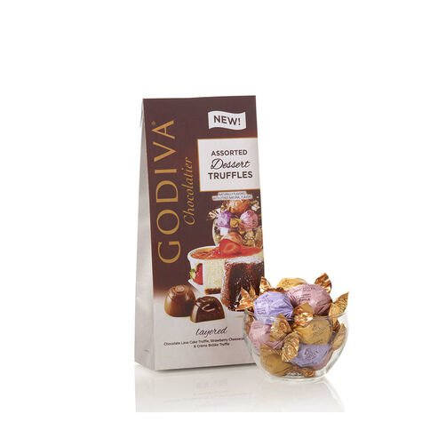 Wrapped Assorted Chocolate Dessert Truffles, Large Bag, 19 pc.