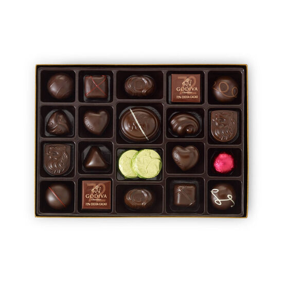 Navy Serving Tray with Dark Assorted Chocolates Gift Box, 27 pc. image number null