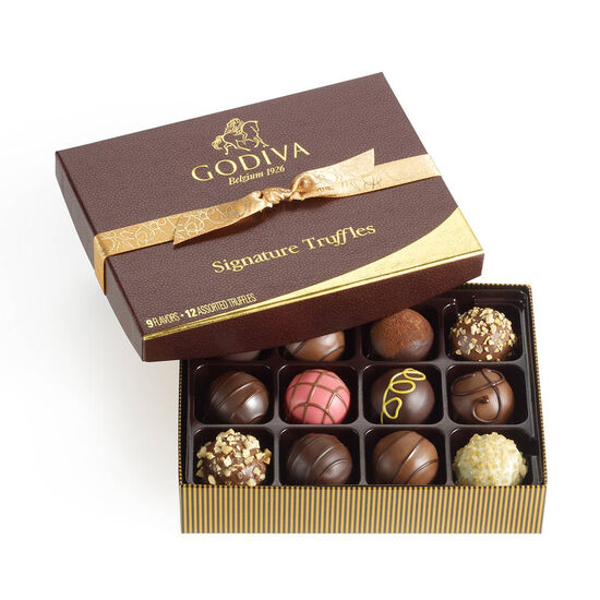 I Wrote A Book About You Book & Signature Chocolate Truffles Gift Box, 12 pc. image number null