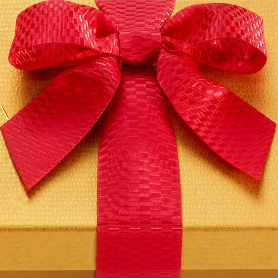 Assorted Chocolate Gold Gift Box, Red Holiday Ribbon, 36 pc. image number null