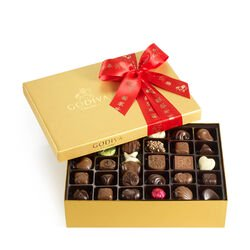 Assorted Chocolate Gold Gift Box, Lunar New Year Ribbon, 70 pc.