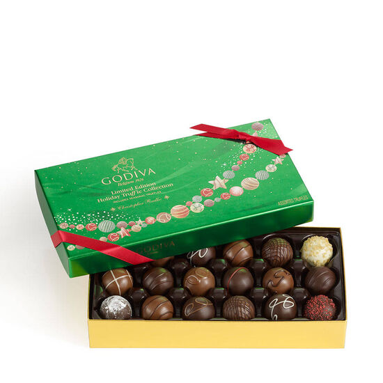Holiday Assorted Truffles Gift Box image number null