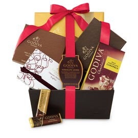 Chocolate Lover's Basket, Red Ribbon