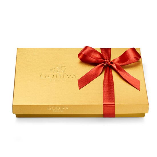 Assorted Chocolate Gold Gift Box, Fall Ribbon, 36 pc. image number null