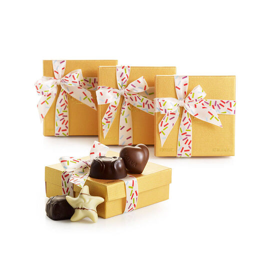 4 pc. Gold Favor - Celebration Ribbon (Set of 4) image number null