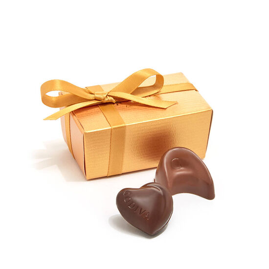 Assorted Chocolate Gold Favor, White Ribbon & Flower, 2 pc. image number null