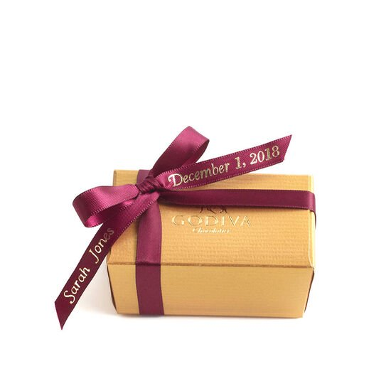 Assorted Chocolate Gold Favor, Personalized Wine Ribbon, 2 pc. image number null