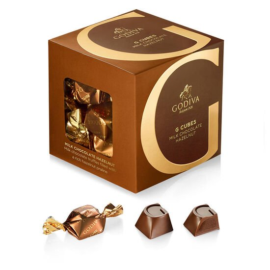 Milk Chocolate Hazelnut G Cube Box, Set of 2, 22 pcs. each image number null