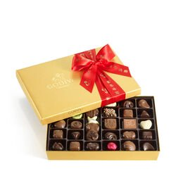 Assorted Chocolate Gold Gift Box, Lunar New Year Ribbon, 36 pc.