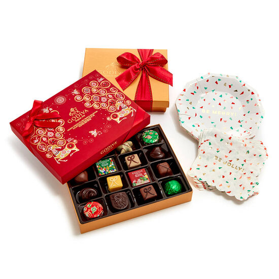 Festive Entertaining Set with Assorted Chocolate Seasonal Gift Boxes image number null