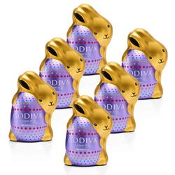 Dark Chocolate Bunnies, Foil Wrapped, Set of 6
