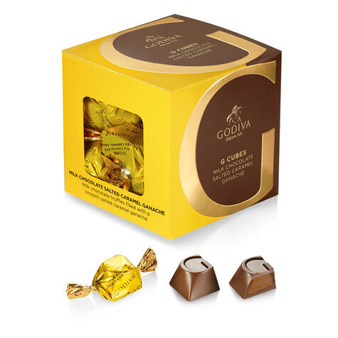 Coffee Lovers G Cube Gift Box, Gold Ribbon
