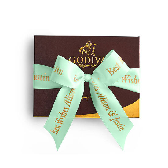 Signature Truffles Gift Box, Personalized Sage Ribbon, 12 pc. image number null