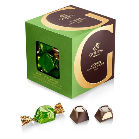Dark Chocolate G Cube Sampler, Set of 4, 22 pcs. each