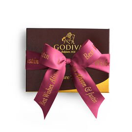 Signature Truffles Gift Box, Personalized Wine Ribbon, 12 pc.