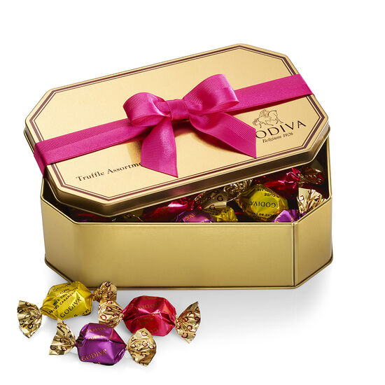 G Cube Truffles Gold Tin, Spring Ribbon, 30 pc. image number null