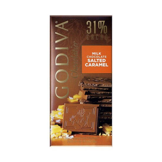 Milk Chocolate Salted Caramel Bar, 31% Cocoa, 3.5 oz. image number null