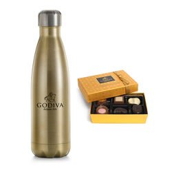 Godiva Water Bottle by S'well® with Gold Discovery Gift Box, 6 pc.