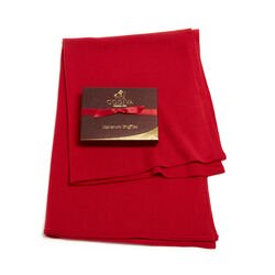 Red Shawl with Signature Truffles Gift Box, 12 pc.