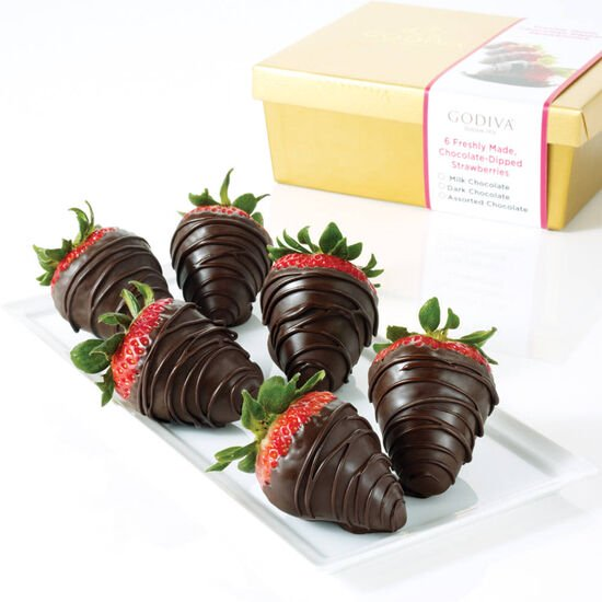 Dark Chocolate Covered Strawberries, Half Dozen  image number null