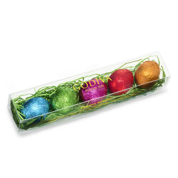 Foil-Wrapped Chocolate Easter Egg Gift Box, 5 pc.