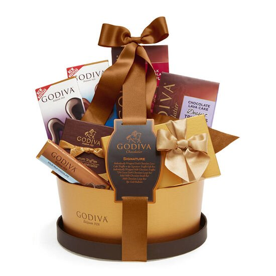 Signature Chocolate Basket, Classic Ribbon image number null