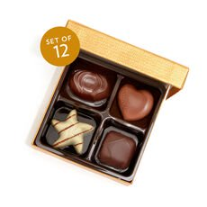 Assorted Chocolate Gold Favor, Set of 12, 4 pc. each