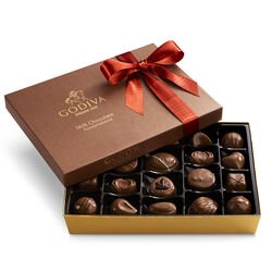 Milk Chocolate Gift Box, Orange Ribbon, 22 pc.