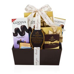 Chocolate Celebration Gift Basket, Thank You Ribbon