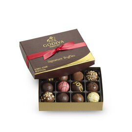 Signature Truffles Gift Box, Red Ribbon, 12 pc.