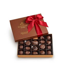Milk Chocolate Gift Box, Red Ribbon, 22 pc.
