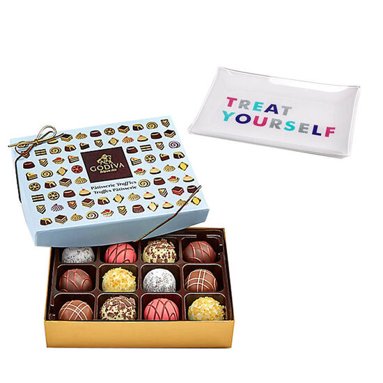 Treat Yourself Tray with Patisserie Truffles Gift Box, 12 pcs. image number null