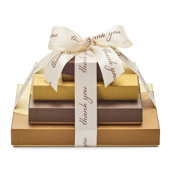 Sweet Surprise Gift Tower, Thank You Ribbon image number null