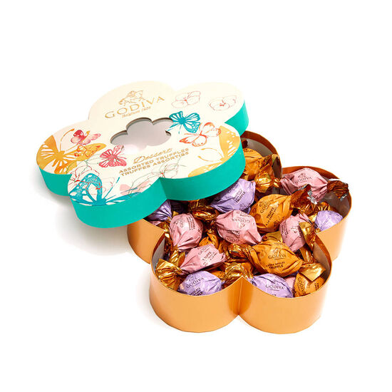 Chocolate Flower Gift Box, Individually Wrapped, 32 pc. image number null